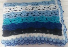 Oceanic Midnight Afghan | AllFreeCrochetAfghanPatterns.com ~ intermediate ~ FREE CROCHET pattern