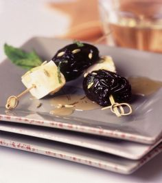Photo of Dried Plum, Feta Pickup Sticks with Drizzled Honey