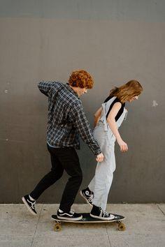 Couple Posing, Couple Shoot, Posing Couples, Photoshoot Themes, Photoshoot Inspiration, Beach Photography, Photography Photos, Skateboarding Couples, Downtown Long Beach