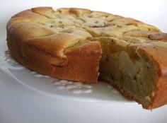 Gâteau aux pêches blanches et à l'huile d'olive