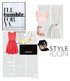 """""""TUMBLR STYLE #1"""" by stellastellahankinson ❤ liked on Polyvore featuring Oris, Gianvito Rossi, Chicwish, Ginette NY, Yumi, Zara Taylor and Dune"""