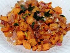 Savory Gluten-Free Sweet Potato Hash is a terrific savory side for your autumn table.