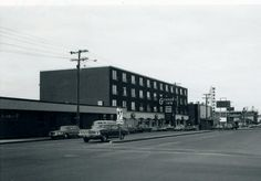 Intersection  of 47 Ave and Ross St from 1972, Red Deer, AB