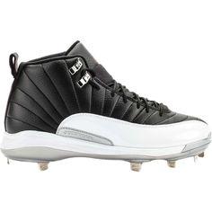 c10d1cbf293 Jordan 625221 012 The Air Jordan 12 Playoffs Cleats Training Shoe (Black  Gym Red White Metallic Silver) at Shoe Palace