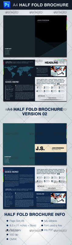 BiFold Brochure Indesign Template  Indesign Templates Adobe
