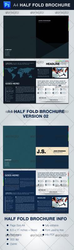 design and design international design awards 4work Pinterest - half fold brochure template