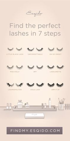 All the different types of lashes out there on the market can be overwhelming, so start with knowing your eyes, and work your way to finding out what works best