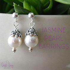 Jasmine pearl earrings. Elegant and simple. One of my favorites!