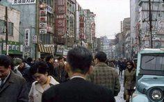 1968 Myung dong in Seoul, Korea.  1968년 명동 풍경