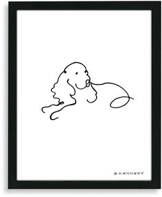 Bed Bath & Beyond Spaniel Framed Line Drawing on shopstyle.com