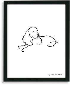 Bed Bath & Beyond Spaniel Framed Line Drawing on shopstyle.com