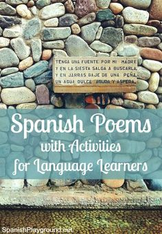 Spanish poems for kids chosen carefully for language learners. Many short, easy poems about seasons, animals and the natural world. Activities included.