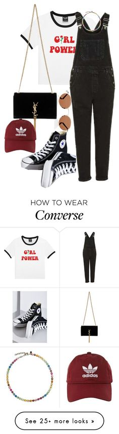 """""""Untitled #923"""" by veronice-lopez on Polyvore featuring Oliver Peoples, Topshop, Converse, Yves Saint Laurent and adidas"""