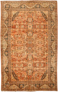 Antique Sultanabad Persian Rug 43425