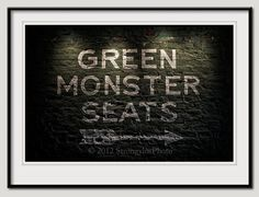 Fenway Park Green Monster Seats Boston Red Sox by StrongylosPhoto, $30.00