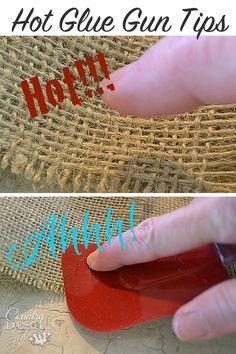 Need some tips for using a hot glue gun?  Here's a collection of tips & including tips from readers in comments!  Do you have a hot to tip we missed?  Country Design Style
