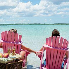 pink adirondack chairs :)