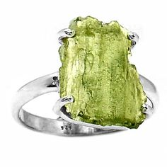Genuine-Czech-Moldavite-925-Sterling-Silver-Ring-Jewelry-s-8-5-SR136266