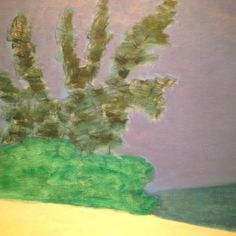 Milton Avery's Trees against the Sea, 1959  Seen at the amazing Museum of Fine Arts in Montreal (Musee des Beaux-Arts Montreal - mbam.qu.ca)
