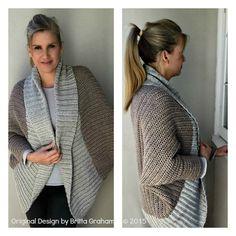 Gran tamaño Crochet encogiéndose de hombros por bubnutPatterns