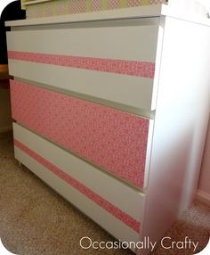 Occasionally Crafty: Simple Makeover- Ikea MALM Dresser