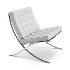 Mies van der Rohe Barcelona Chair A tribute to the marriage of design and craftsmanship, Mies van der Rohe's iconic Barcelona chair elevated industrial materials to a level of beauty and grace that se