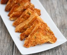 Shrimp Dishes, Shrimp Recipes, Easy Shrimp Toast Recipe, Seafood Appetizers, Appetizer Recipes, Chinese Appetizers, Chicken Appetizers, Snack Recipes, San Diego Food