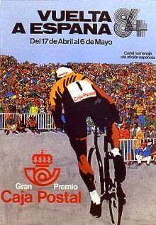 Cartel Vuelta Ciclista España año 1984