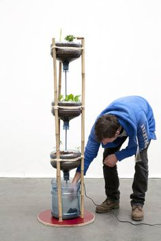 Save the world on a living room scale. This mini aquaponics system by Mediamatic, Miniponics, is a very sustainable way to produce food in the city. Plants and fish live together in one system, and help each other to survive.