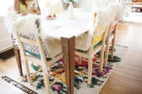 Faux fur chair covers! great tutorial