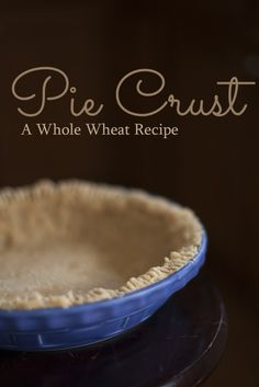 Whole Wheat Pie Crust Recipe - Eating Richly Apple Pie Crust, Easy Pie Crust, Pie Crusts, Pastry Crust Recipe, Pie Crust Recipes, Baking Recipes, Dessert Recipes, Healthy Desserts, Healthy Eats