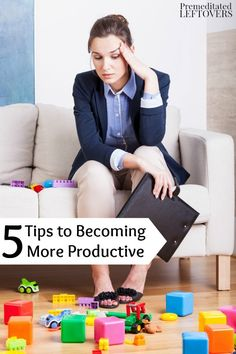 Improve your focus and stay on track with these 5 Tips to Becoming More Productive!