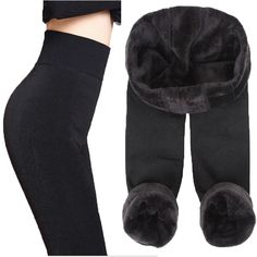 25bceacd Autumn Winter Fashion Explosion Model Plus Thick Velvet Warm Seamlessly  Integrated Inverted Cashmere Leggings Warm Pants