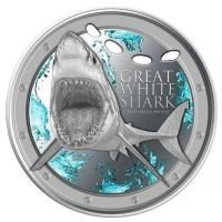 Silver Coins-Great White Shark Niue 2012 1 oz .999 Silver Coin  https://coinsboutique.com/silver-coins/australia-and-oceania/niue/great-white-shark-1-oz-silver-bullion-coin-proof-like-2012