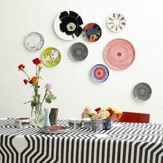 borden collage aan muur