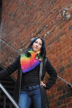 "Providence is one of the patterns in my new book ""A Dark and Stormy Knit""Providence is a western style kerchief/cowl. It's fun and functional and can be worked in a wide array of bulky yarns to fit any budget. Work in bright colors for you, or in browns and blacks for him!Materials: 218 yarns of a Bulky weight yarn Size 13 & 15 24"" straight or circular needles. Piece is worked flat. 3 1.5 inch buttons"