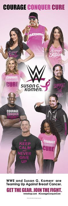 WWE & Susan G Komen Team Up in the fight against Breast Cancer Wrestling Stars, Wrestling Divas, Brie Bella, Nikki Bella, Wwe Events, Susan G Komen, Clash On, Wrestling Superstars, Wwe Tna