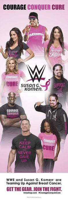 WWE & Susan G Komen Team Up in the fight against Breast Cancer Wrestling Stars, Wrestling Divas, Brie Bella, Nikki Bella, Wwe Events, Susan G Komen, Clash On, Wrestling Superstars, Wwe Tna