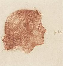 Head of a young woman, facing right