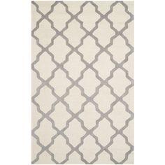 Found it at Joss & Main - Sandra Ivory & Silver Geometric Wool Hand-Tufted Area Rug