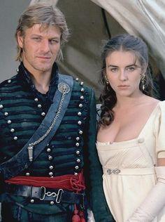 Sean Bean as Sharpe.   and Elizabeth Hurley
