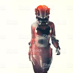 View top-quality stock photos of Futuristic Spacesuit Astronaut Cyborg. Find premium, high-resolution stock photography at Getty Images. Astronaut Space Suit, Alien Female, Alien Photos, Rocket Design, Futuristic Art, Geek Gear, Fashion Updates, Image Now, Stock Photos