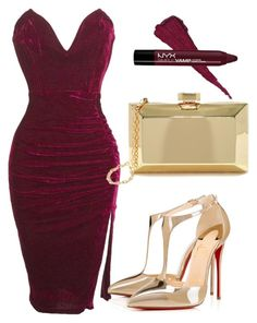 """BURGUNDY FALL!"" by samstyles001 on Polyvore featuring Christian Louboutin and Lulu*s"