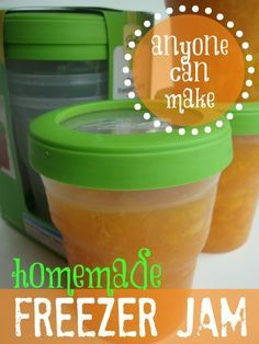 Homemade Freezer Jam - I'm making this now for Thanksgiving! My pears are in so I'll be making some of this very soon!! Easy!