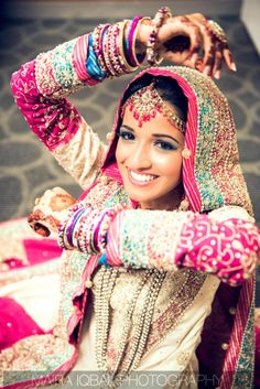 Pakistani Bride. South Asian Bride, South Asian Wedding, Dulhan Dress, Desi Wedding Dresses, Asian Bridal, Indian Couture, Bridal Outfits, Bollywood Fashion, Indian Dresses
