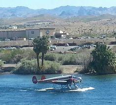 Pretty good size twin engine plane on the Colorado River, Laughlin, NV. Laughlin Nevada, Colorado River, River Walk, Pretty Good, Rivers, Lakes, Places Ive Been, Boats, Las Vegas
