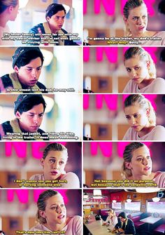 Riverdale 2x01 - It fit you like a glove, Jug. Like a second skin, And the look on your face, you weren't acting for the serpents. And now you're riding a motorcycle which you've never done. Betty, I'm not a serpent, okay? That might be my dads life but it's not mine. What about your soon to be foster family? They're from the South Side.