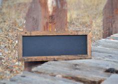 Long Rustic Framed Chalkboard 9.5x25.5 by MintageDesigns on Etsy, $39.00