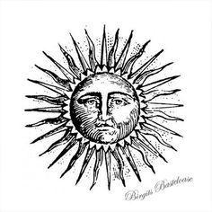 Stamperia Stempel Sonne Sun - Bazaar al-waraq - 16 Tattoo, Sun Tattoos, Black Tattoos, Flower Tattoos, Sonne Illustration, Landscape Illustration, Tattoo Sonne, Sun Drawing, Handpoke Tattoo