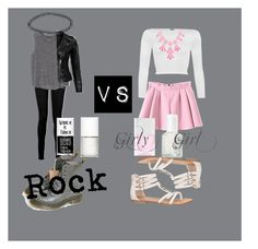 """""""Rock vs Girly Girl"""" by afashionfangirl230 ❤ liked on Polyvore featuring Paige Denim, MANGO, VIPARO, Dr. Martens, Boohoo, WearAll, maurices, Nails Inc., Essie and Uslu Airlines"""